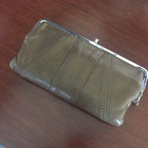 Army green Hobo clutch